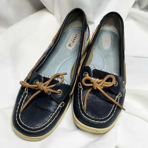 Sperry | Navy Blue Checkered Top Sider Loafers